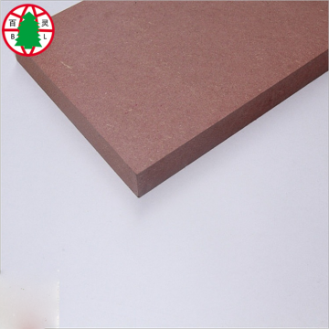 Chinese Linyi Fireproof Material Red Color Plain MDF