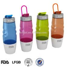 BPA libre flip top aisló plástico deportes botella de agua potable 600 ML