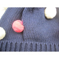 wholesale colorful pom high quality cute beanie christmas hat and scarf