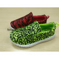 New Design Kids Canvas Injection Shoes, spandex Sport Shoes Flyknit Loafer