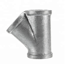 Custom Iron Cast Y Branch 45 Degree Lateral Tee Pipe Fitting