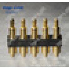 2.54mm Pasador de 5 pines con muelle Pogo conector de clavija (impermeable)