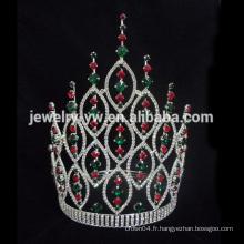 Big Beauty Pageants Tiaras de strass Grandes couronnes de Tall Crystal AB