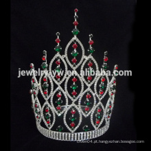 Big Beauty Pageants Rhinestone Tiaras Grande Alto Cristal AB Coroas