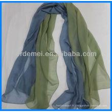 Écharpe en soie indienne colorée