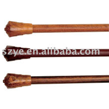 28mm aluminium alloy curtain rod wooden grain color