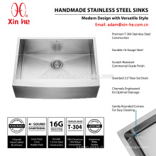 304 acier inoxydable 30 * 22 pouces standard américain simple bol bol évier avant cuisine ferme avec grille en option