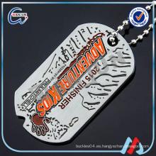 Collar grabado de la etiqueta de perro del acero inoxidable del logotipo