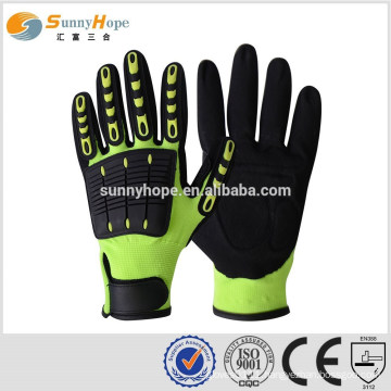 SUNNY HOPE 13gauge cuff impact gloves with tpr,sport hand gloves
