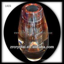 Beau vase en cristal L025