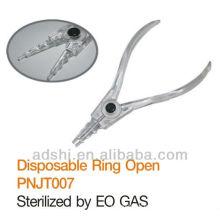 ADShi de alta calidad lisa esterilizada arte corporal arte desechable anillo de uso abierto herramientas de perforación