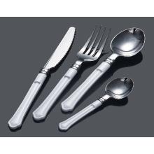 Colher de prata talheres de plástico / garfo / faca / colher