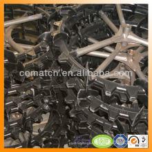 rueda de goma de la repicadora con composición de goma fuerte acero base
