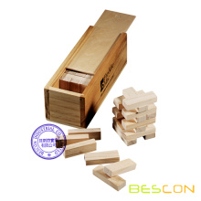 Jenga Game Set in Wooden Box Packaging