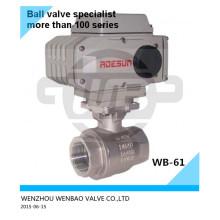 """Válvula de bola roscada motorizada Ss304L 11/4 """"1000 Wog"""