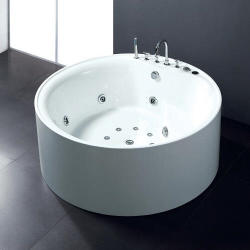round freestanding acrylic bathtub
