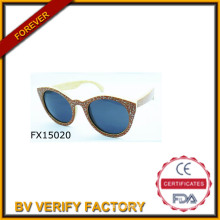 2015 Avaitor la main lunettes de soleil en bois (FX15020)