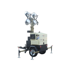 9m 4*400w led floodlights vehicle-mounted trailer Mobile Light Tower