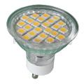 Светодиодный потолочный прожектор GU10 / MR16 / E27 / E14 2W / 3W / 4W / 5W (24SMD 5050 со стеклянной крышкой)