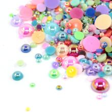 mélange lâche couleur dos plat perles de perles en vrac FP11