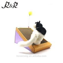 Le meilleur choisissent le griffoir de jouet de chat d'animal familier avec le souhait plumage de carton ondulé CS-2001