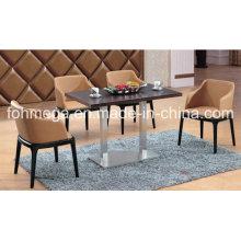 Luxury Walnut Color Wooden Restaurant Dining Set (FOH-BCA26)