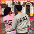 Latest design long sleeves custom woolen couple love sweater