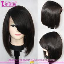 N° humaine s'emmêler 100 % cheveux humains indiens vierges courte perruque Bob