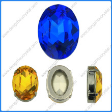 Pedras de contas de jóias fantasia oval