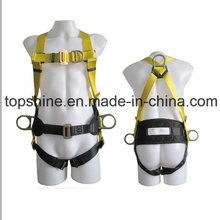 Professional Adjustable Industrial Working Polyester Full-Body Safety Harness Belt