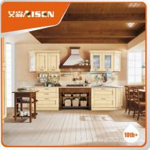 Com garantia de qualidade colorida com carcaça de madeira compensada de hardware, personalize armário de cozinha de madeira maciça