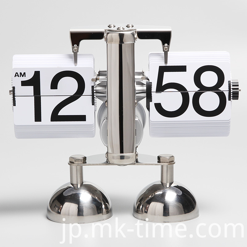Stain Steel Silver Double Bell Table Clock