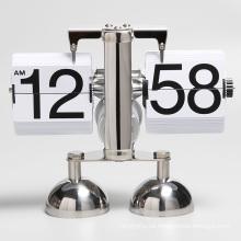 Reloj de mesa doble campana de acero inoxidable