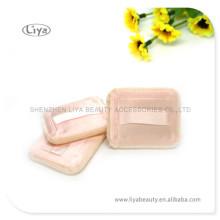 Quadratische Baumwolle kosmetische Blätterteig für Pulver und Stiftung