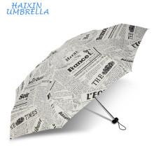 Produtos mais procurados Itens por atacado do presente Top Quality Lady 5 Fold Jornal Reino Unido Barato Personalizado Impressão Guarda-chuva Promocional