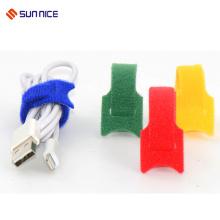 Organizador de cabos de fecho de cabo de amarração de cabo de nylon macio