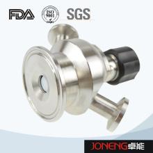Vanne d'échantillonnage étanche aseptique de qualité sanitaire en acier inoxydable (JN-SPV1008)