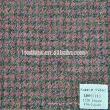 Tela de la capa de la materia textil de algodón de la lana de Dobby de la resistencia para el tweed de Harris al por mayor
