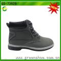 Grey Imitation Leather Fabric Lace Child Dress Boot