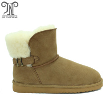 Women's winter warm fuzzy outdoor buckles for boots