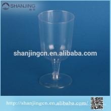 7 oz venda quente inquebrável copo de vidro de vinho de plástico transparente
