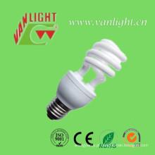 Tri-Color série de T3 metade espiral lâmpada de poupança de energia