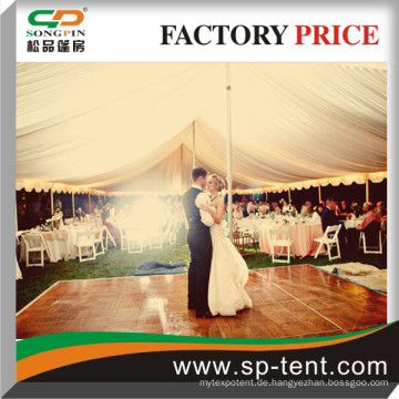 Heißer Verkauf Romantische und verträumte im Freienhochzeitsereignisse Pole Zeltinnenansicht mit Tanzboden (500 Sitzer)