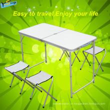 Protable tipo de mesa dobrável ao ar livre com cadeira