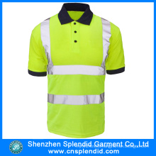 Custom Polyester High Visibility Mens Safety Reflective Polo Shirt