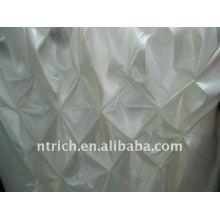 Fascinante!!! pano de tabela de cetim de cor branca / saia de mesa, estilo de favo de mel, design de moda