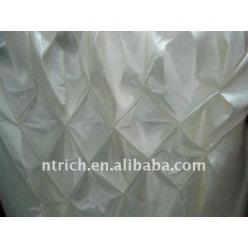Fascinant!!! tissu de table de satin de couleur blanche / jupe de table, style de nid d'abeille, design de mode