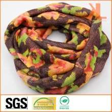 100% Acrylic Winter Warm Colorful Design Knitted Neck Scarf