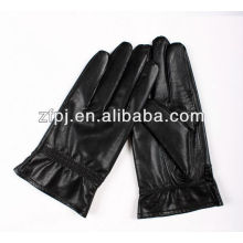 mens black sheepskin leather driving gloves for motorbike