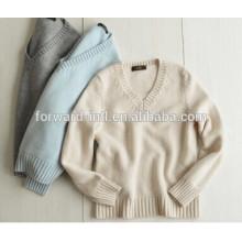 женщин V-образным вырезом кашемировый свитер пуловер